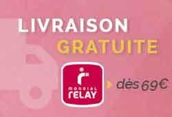 Livraison Gratuite à partir de 69€ avec Mondial Relay